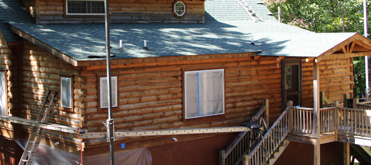 Professional Log Home Sealing Service